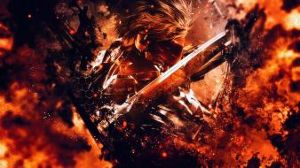 Flames raiden metal gear rising: revengeance mgr wallpaper
