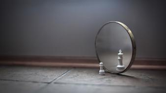 Floor mirrors chess wallpaper
