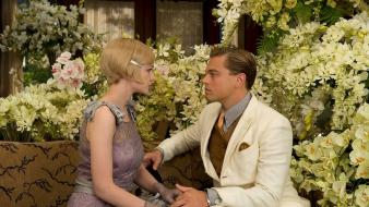 Flowers leonardo dicaprio carey mulligan the great gatsby wallpaper