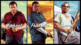 Franklin grand theft auto 5 trevor michael wallpaper