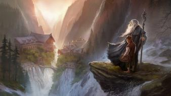 Gandalf the lord of rings hobbit bilbo baggins wallpaper