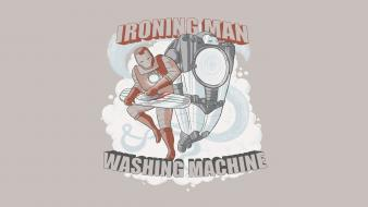 Iron man parody war machine satire washing ironing wallpaper