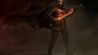 Katana lightsabers darth vader samurai wallpaper