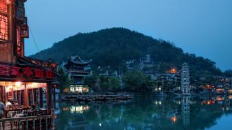 Landscapes chinese town wallpaper