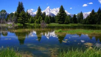 Landscapes nature grand teton national park lakes Wallpaper