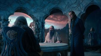 Mckellen saruman christopher lee galadriel elrond arches wallpaper