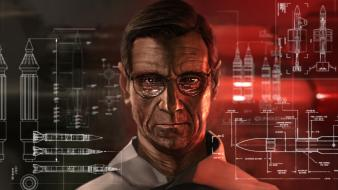Men glasses faces professor asimov wallpaper