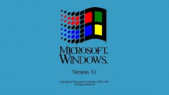 Microsoft windows computer technology 3.1 wallpaper
