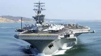 Military ships navy aircraft carriers cvn-68 nimitz wallpaper