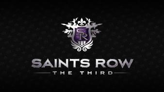 Minimalistic saints row logos row: the third wallpaper