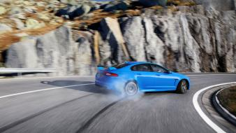 Mountains roads supercars 2014 jaguar xfr drift wallpaper