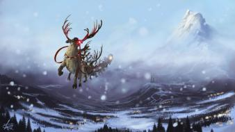 New year reindeer 2013 Wallpaper