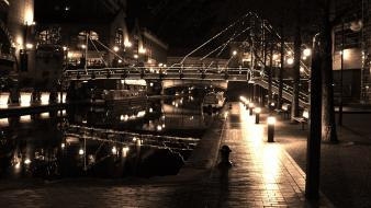 Night sepia birmingham wallpaper