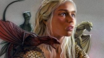 Of thrones daenerys targaryen dragoon drakaar khaleesi wallpaper