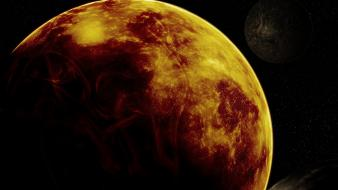 Outer space red planets wallpaper