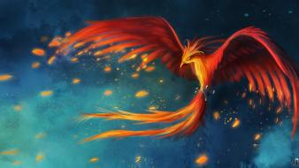 Phoenix fantasy art digital airbrushed fan philomena wallpaper