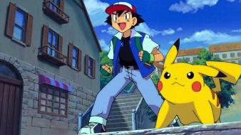 Pokemon pikachu ash ketchum wallpaper
