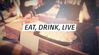 Quotes live drinks eat wallpaper