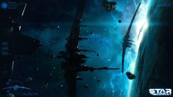 Space stars fantasy art science fiction conflict wallpaper