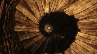 Stairways the elder scrolls v: skyrim wallpaper