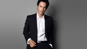 Suit men keanu reeves actors wallpaper