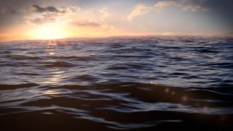 Sunset ocean seascapes Wallpaper