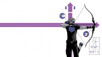 The avengers hawkeye clint barton bow (weapon) style wallpaper