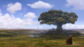 Trees artwork andreas rocha wallpaper