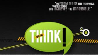 Typography think positive Wallpaper