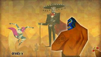 Video games masks wrestler guacamelee wallpaper
