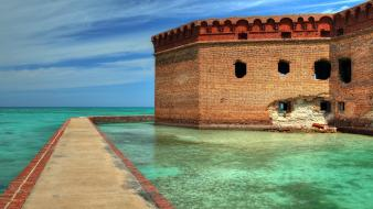 Water ocean florida fort jefferson wallpaper
