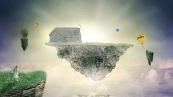 Wings houses earth fly ireland speedart children wallpaper