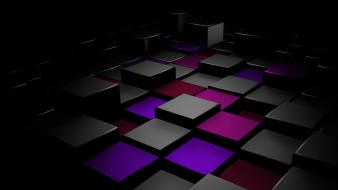 Abstract blocks cubes digital art Wallpaper
