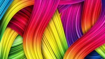 Abstract multicolor waves wallpaper