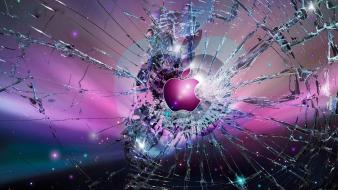 Apple inc. broken screen wallpaper
