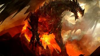Art artwork guild wars 2 bahamut gw2 wallpaper