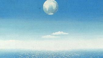 Artwork traditional art rene magritte belgian sea wallpaper