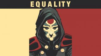 Avatar: the legend of amon banners equality wallpaper
