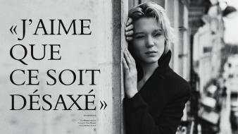 Black and white actresses jackets lea seydoux wallpaper