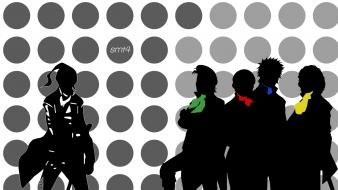 Black and white circles shin megami tensei colors wallpaper