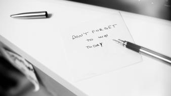 Black and white indoors pens motivation wallpaper