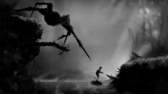Black and white limbo spiders Wallpaper