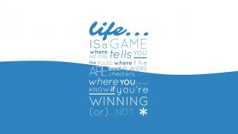 Blue text quotes typography life Wallpaper