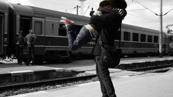 Boys selective coloring bags railroads factor hugging wallpaper
