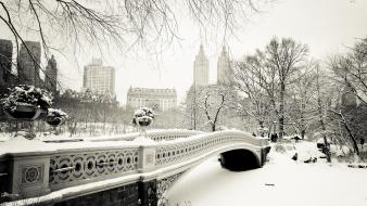Bridges new york city manhattan central park wallpaper