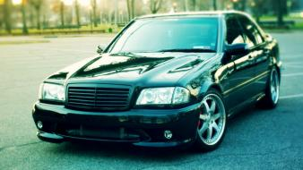 Cars tuning german mercedes benz c220 bumper w202 Wallpaper