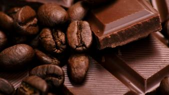 Chocolate food coffee beans wallpaper