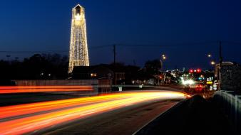 Cityscapes night usa texas roads wallpaper