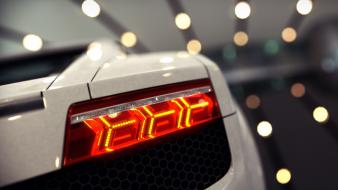Close-up lights cars lamborghini races taillights wallpaper