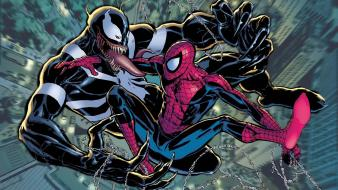 Comics venom spider-man battles artwork marvel wallpaper